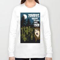 walking dead Long Sleeve T-shirts featuring Walking Dead by grawiton