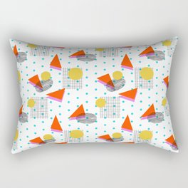 Bounce - abstract minimal retro throwback 1980s grid circle shapes memphis design pattern print art Rectangular Pillow