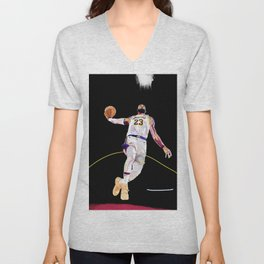 King James - Basketball Player - Art Print and Poster Lebron Unisex V-Neck