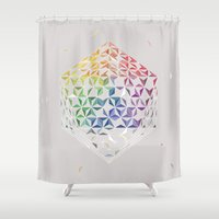 prism Shower Curtains featuring Prism by Bernadett Hartl