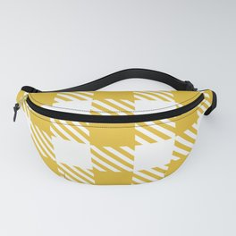 Plaid Pattern Yellow Fanny Pack