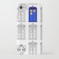 tardis iPhone & iPod Cases featuring Tardis by Megan Twisted