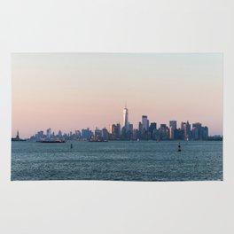 New York City Summer Sunset Skyline Rug