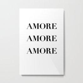 Amore love caligraphy  Metal Print