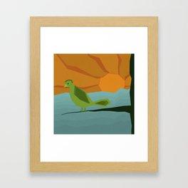 Geo Bird Framed Art Print
