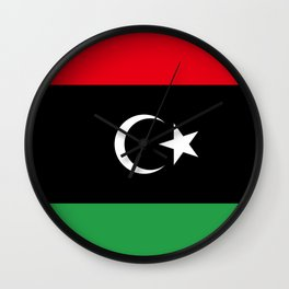 Libya Flag Wall Clock