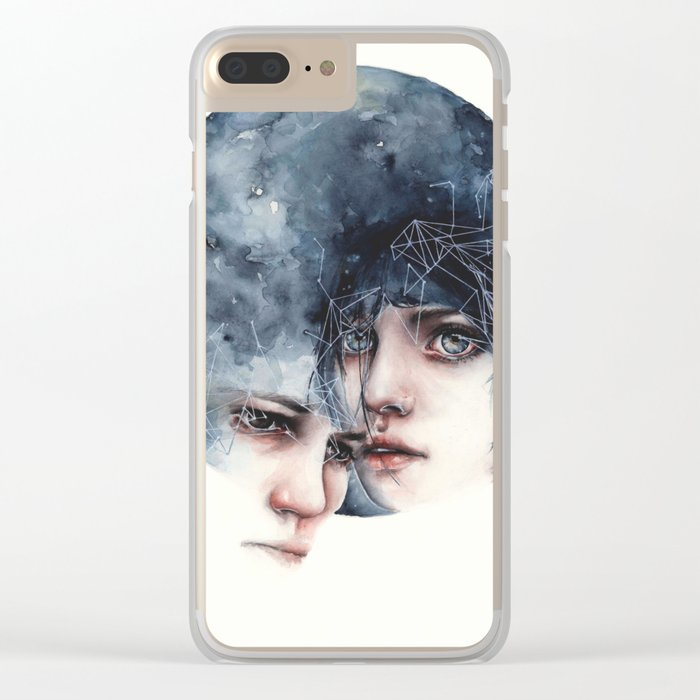 Moonlight love Clear iPhone Case