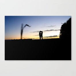 Love at the field. Canvas Print