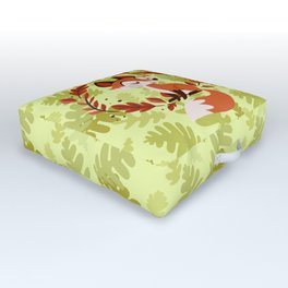 summer to fall fox Outdoor Floor Cushion