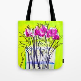 Early Tulips Tote Bag