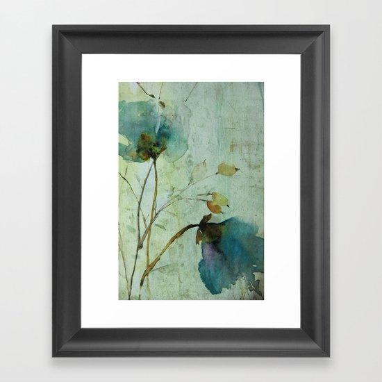 heavenly blue Framed Art Print