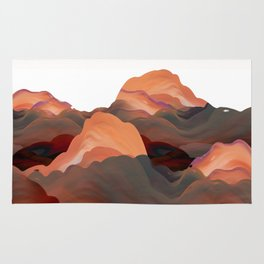 """""""Coral Mountains"""" Rug"""