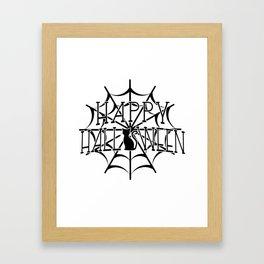 Happy Halloween Cat Framed Art Print