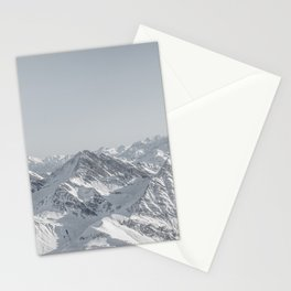 Mountain peaks - Mont Blanc serie 7 - faded mountains Stationery Cards