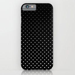 Mini Licorice Black with Faded White Polka Dots iPhone Case