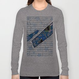 Stationary Scratch with Circuit Board Long Sleeve T-shirt