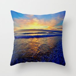California Sunset Throw Pillow
