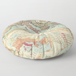 Vintage Map of The Roman Empire (1889) Floor Pillow