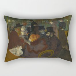 Henri de Toulouse-Lautrec - At the Moullin Rouge Rectangular Pillow