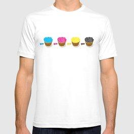 CMYK cupcakes T-shirt