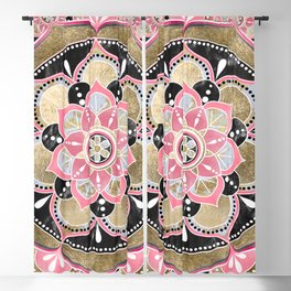 Elegant girly tribal mandala design Blackout Curtain