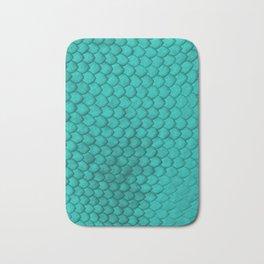 Teal Snake Skin Bath Mat