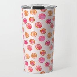 Tennis Balls / Coral / Pink / Pattern Watercolor Travel Mug