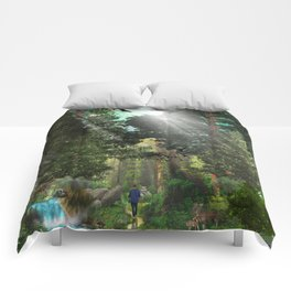 Forest Wisdom Comforters