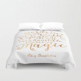 Dumbledore's Magic Words Duvet Cover