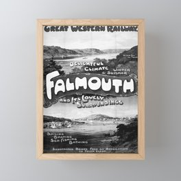 old GWR Falmouth poster vintage Poster Framed Mini Art Print