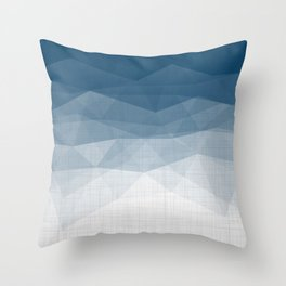 Imperial Topaz - Geometric Triangles Minimalism Throw Pillow