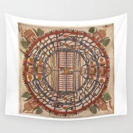 Manuṣyaloka, Map of the World of Man, according to Jain cosomological traditions (circa 1890) Wall Tapestry