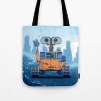 wall e Tote Bags featuring Wall-e by LAckas