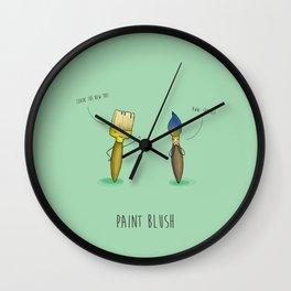 Paint Blush Wall Clock