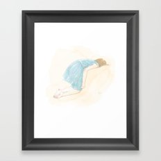 good luck and good night Framed Art Print
