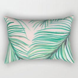 Sunset Palms. Rectangular Pillow