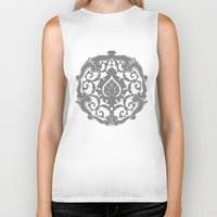renaissance Biker Tanks featuring Renaissance Bronzino Decoration by lllg