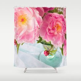 Vibrant Bouquet with filters Shower Curtain