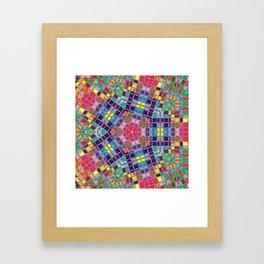 Gemstones and Metal Pentagon Pattern Framed Art Print