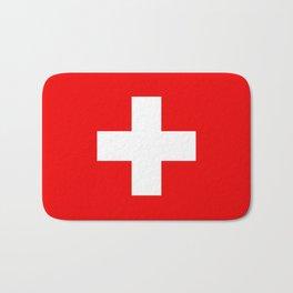 Flag of Switzerland - Authentic (High Quality Image) Bath Mat