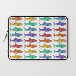 Rainbow Sharks Laptop Sleeve