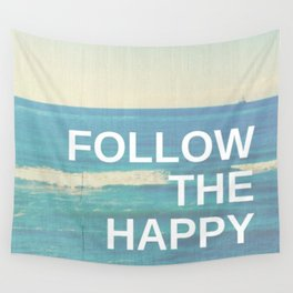 Follow the Happy Wall Tapestry