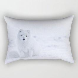 Arctic Fox (Color) Rectangular Pillow