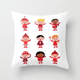 New kids graphics in Shop : red Throw Pillow