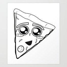 Pizza Sketch Art Print