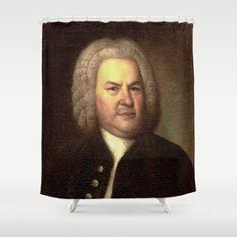 Elias Gottlob Haussmann – portrait of Bach Shower Curtain