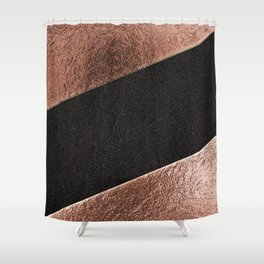 Leather and lattes Shower Curtain