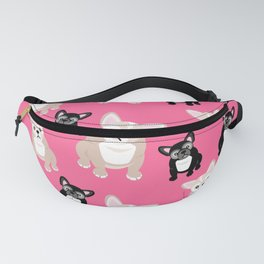 French Bulldog Puppies Pink Fanny Pack