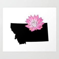Montana Silhouette Art Print