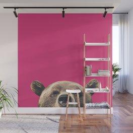 Bear - Pink Wall Mural
